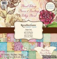 Набор скрапбумаги от Recollections™ - Floral Foliage, 30х30 см, 24 листа