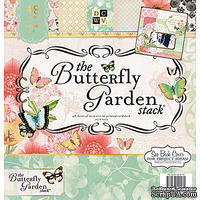 Набор бумаги DCWV - The Butterfly Garden Stack, 30х30 см, 24 листа