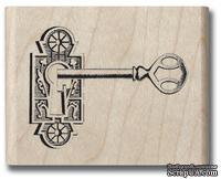 Набор резиновых штампов Hampton Art/Graphic 45 - Romantique Key, на деревянном блоке