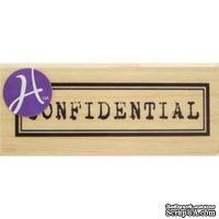 Резиновый штамп Hampton Art/7gypsies Confidential, на деревянном блоке