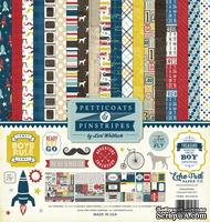 Набор бумаги от Echo Park  - Pinstripes, 30х30см, 12+2 листов