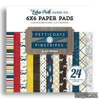 Набор бумаги от Echo Park - Pinstripes, 15х15 см, 24 листа