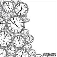Ацетатный прозрачный лист от Kaisercrat - Stamps - Clock In Acetate, 30х30