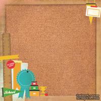 Бумага для скрапбукинга от Kaisercraft под корковую доску - Corkboard - Class Act, глянцевая, 30,5 х 30,5 см