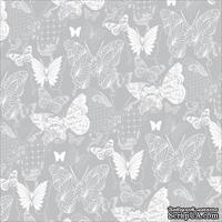 Лист скрапбумаги c фольгой от Kaisercraft - Elegance Foil Paper - PS276