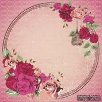 Лист скрапбумаги от Kaisercraft - VIOLETTE - LADY ROSE GLOS PAPER, 30 x 30 см.