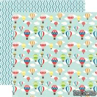Лист двусторонней бумаги от Echo Park - Hot Air Balloons Paper, 30х30см
