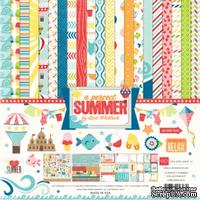 Набор бумаги и декора от Echo Park - A Perfect Summer Collection Kit, 30x30 см