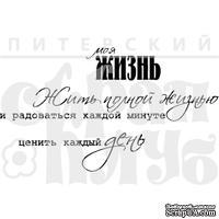 Штамп от Питерского скрапклуба - Набор Жизнь  (Жизнь)