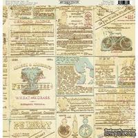 Лист скрапбумаги Authentique Renown, 30х30 см, односторонняя