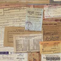 Ткань 100% хлопок - Tim Holtz Eclectic - Documentation-Neutral, 45х55 см - ScrapUA.com