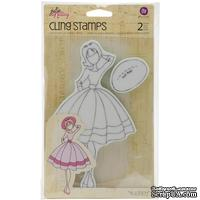 """Резиновый штамп от Prima  - Одри  - Julie Nutting Mixed Media Cling Rubber Stamps Audrey 3.5""""X8.75"""""""