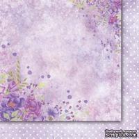 Двусторонний лист бумаги от Galeria Papieru  - Purpurowy deszcz  -  Purple rain - 01