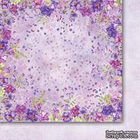 Двусторонний лист бумаги от Galeria Papieru  - Purpurowy deszcz  -  Purple rain - 02