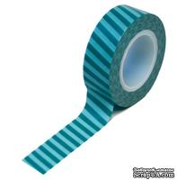 Бумажный скотч Queen & Co - Trendy Tape Stripes Teal, 1 шт