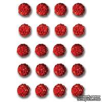 Украшения Queen & Co - Twinkle Goosebumps - Red, 20 штук