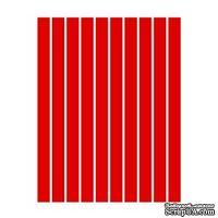 Набор полосок бумаги для квиллинга, 1 цвет (красный), 1,5х295мм, 160 г/м2,  100 шт.