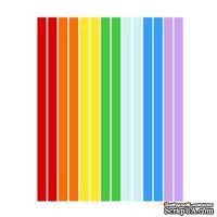 Набор полосок бумаги для квиллинга, 7 цветов, 1,5х295 мм, 160 г/м2, 100 шт.