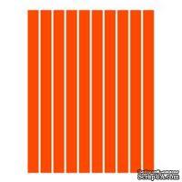 Набор полосок бумаги для квиллинга, 1 цвет (оранжевый), 3х295мм, 80 г/м2, 200 шт.