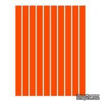 Набор полосок бумаги для квиллинга, 1 цвет (оранжевый), 5х295мм, 80 г/м2, 200 шт.