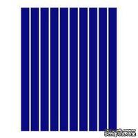 Набор полосок бумаги для квиллинга, 1 цвет (синий темный), 5х295мм, 80 г/м2, 200 шт.