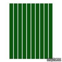 Набор полосок бумаги для квиллинга, 1 цвет (зеленый темный), 5х295мм, 80 г/м2, 200 шт.
