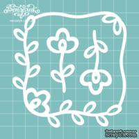 Чипборд от Вензелик - Рамка + цветочки, размер: 9 x 9,2 см
