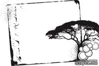 Акриловый штамп Grunge Frame Рамка, размер 5,7 * 3,8 см
