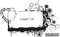 Акриловый штамп Grunge Frame Рамка, размер 6,3 * 3,9 см