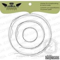 Набор акриловых штампов Lesia Zgharda R044 Рамка-дудлинг круг прошит, 3 шт