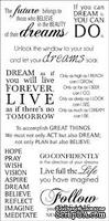 Натирки от Kaisercraft - Dreams -rub-on quotes, RB908, 15x30 см