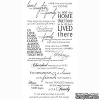 Натирки от Kaisercraft - Family -rub-on quotes, RB910, 15x30 см
