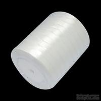 Ленточка атласная  White, 10мм, цвет белый, 90 см