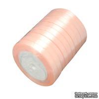 Ленточка атласная  Lightsalmon, 10мм, цвет персиковый, 90 см