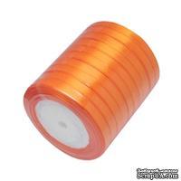 Ленточка атласная  Orange, 10мм, цвет оранжевый, 90 см