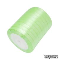 Ленточка атласная  Jade Green, 10мм, цвет салатовый, 90 см