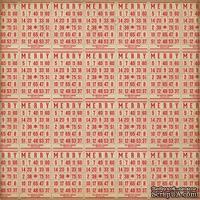 Лист скрапбумаги от Echo Park - Christmas Games, 30х30 см