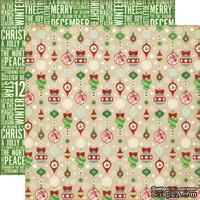 Лист двусторонней бумаги от Echo Park - Holiday Ornaments Paper