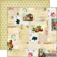 Лист двусторонней бумаги от Echo Park - Letters to Santa Paper