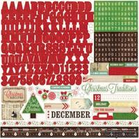 Наклейки от Echo Park- Alpha Reflections Christmas