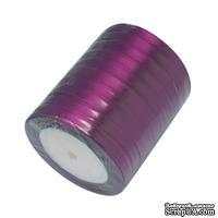 Ленточка атласная  Violet, 10мм, цвет фиолетовый, 90 см