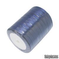 Ленточка атласная  Dark Blue, 10мм, цвет темно-синий, 90 см