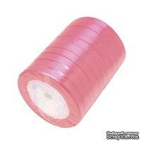 Ленточка атласная  Pink, 10мм, цвет розовый, 90 см - ScrapUA.com