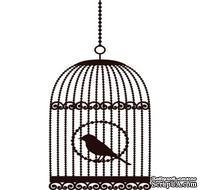 Акриловый штамп Bird Cage 2ab Клетка с птицей, размер 3,3 * 6 см