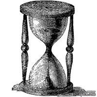 Акриловый штамп Stamp Hourglass RE020 Песочные часы, размер 2,4 * 3,1 см