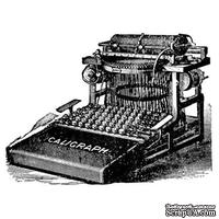 Акриловый штамп Stamp Typewriter RE023 Печатная машинка, размер 5 * 3,8 см