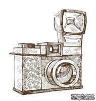 Акриловый штамп RE031 Фотокамера, размер 4,6 * 5,1 см
