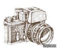 Акриловый штамп RE032 Фотокамера, размер 5,2 * 4 см