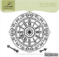 Акриловый штамп Lesia Zgharda RE056 Часы со стрелками, размер 7х7 см.