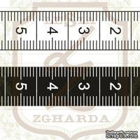 Набор акриловых штампов Lesia Zgharda RE072 Сантиметровые ленты, 2 шт
